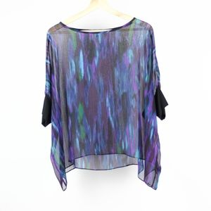 Express Womens Blouse Oversized Sheer Size Small